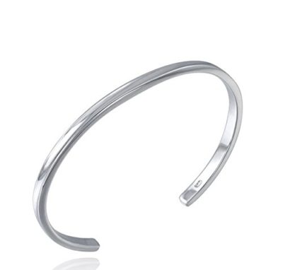 Ladies-Sterling-Silver-Bangle-Slim-Style-with-Alfred-Co-Jewellery-Box-B00WD28A8W