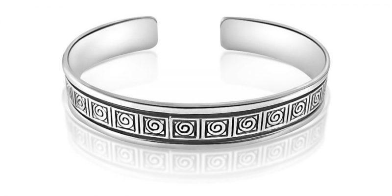 Ladies-Sterling-Silver-Bracelet-Bangle-with-Alfred-Co-Bangle-Box-B01AEU0Y1U