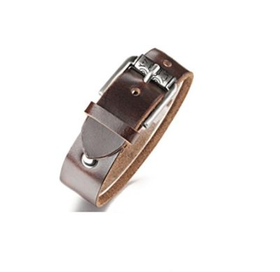 Mens-Brown-Leather-Bracelet-with-Luxury-Alfred-Co-Jewellery-Box-B014C4CWI2