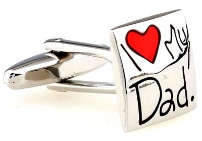 Mens-Gift-I-Love-My-Dad-Red-and-Silver-Novelty-Cufflinks-with-Alfred-Co-Cufflink-Box-B00CV7MC6K