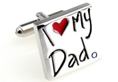Mens-Gift-I-Love-My-Dad-Red-and-Silver-Novelty-Cufflinks-with-Alfred-Co-Cufflink-Box-B00CV7MFB2