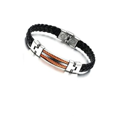 Mens-Leather-Stainless-Steel-Bracelet-with-Luxury-Alfred-Co-Jewellery-Box-B014C4CVXI