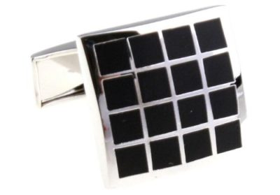Mens-Luxury-Silver-Black-Cross-Square-Cufflinks-with-Alfred-Co-Jewellery-Box-B00GYFOFOW