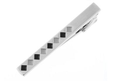 Mens-Luxury-Silver-Black-Diamond-Pattern-Tie-Clip-with-Alfred-Co-Jewellery-Box-B00EWJDOUI