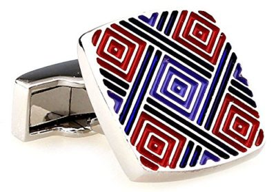Mens-Luxury-Silver-Red-Blue-Purple-Square-Cufflinks-with-Alfred-Co-Jewellery-Box-B00NJPHXZI