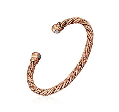 Mens-Rose-Gold-Magnetic-Bracelet-Bangle-Twist-Style-with-Alfred-Co-Jewellery-Box-B01F2HE18C