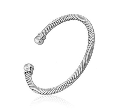 Mens-Silver-Plated-Magnetic-Bracelet-Bangle-Twist-Style-with-Alfred-Co-Jewellery-Box-B01F2HE4PW