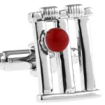 Mens-Sport-Silver-Cricket-Wickets-Stump-Red-Cricket-Ball-Novelty-Cufflinks-with-Alfred-Co-Cufflink-Box-B00DHOV528