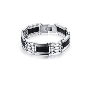 Mens-Stainless-Steel-Bracelet-with-Luxury-Alfred-Co-Jewellery-Box-B014C4CURK