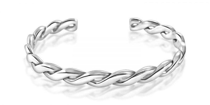 Sterling Silver Bangle Bracelet Twist Style
