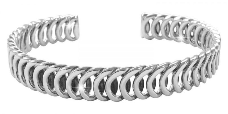 Sterling Silver Bracelet Loop Cuff Style with Alfred & Co. Jewellery Box