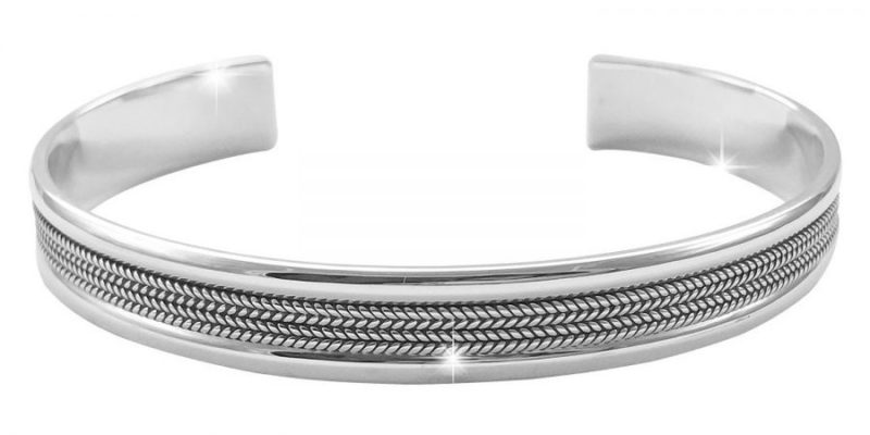 Mens-Sterling-Silver-Bangle-Classic-Style-with-Alfred-Co-Jewellery-Box-B018PJPZFC