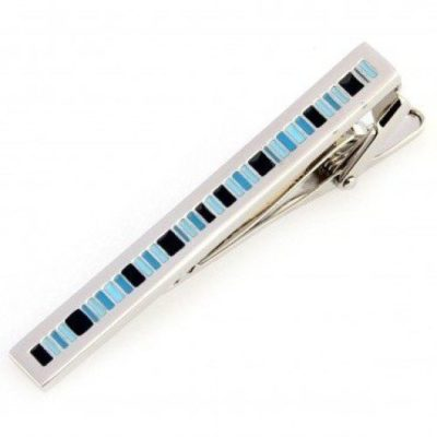 Mens-Stylishly-Striped-Blue-Black-Silver-Tie-Clip-with-Alfred-Co-Jewellery-Box-B00CPRQHQM