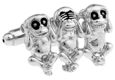 monkey cufflinks