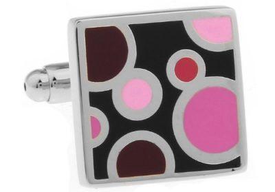 Black & Pink Cufflinks