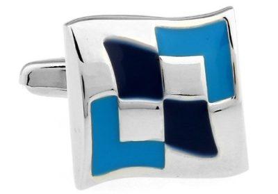 Blue & Silver Cufflinks