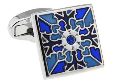 Premium-Silver-Blue-Cufflinks-with-Alfred-Co-Cufflinks-Box-B00TBIDBPS