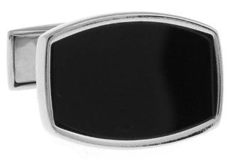 Premium-Silver-and-Black-Cufflinks-with-Alfred-Co-Cufflinks-Box-B00ON69RQU