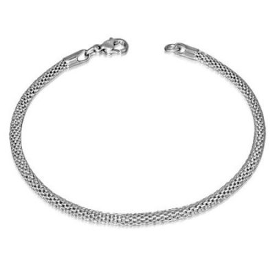Silver-Stainless-Steel-Round-Mesh-Mens-Bracelet-3mm-wide-with-Alfred-Co-Jewellery-Box-21-cm-827-inch-B00HGIAM6Q