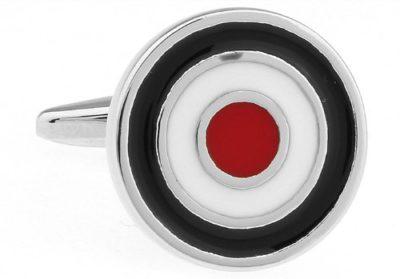 Smart-Black-White-and-Red-Circle-Cufflinks-with-Alfred-Co-Cufflinks-Box-B00LZ5V3KU