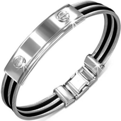 Stainless-Steel-2-tone-Twisted-Cable-Watch-Style-Bracelet-with-Luxury-Alfred-Co-Jewellery-Box-B00MZEIN80