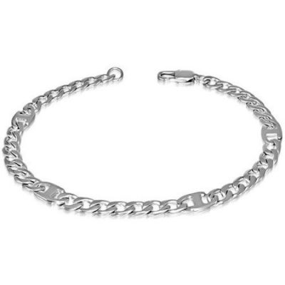 Stainless-Steel-Flat-Oval-Curb-Silver-Mens-Bracelet-6mm-wide-with-Alfred-Co-Jewellery-Box-23-cm-906-inch-B00GYFORJU