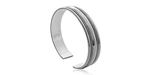 Silver Bangle Oxidized Classic Style with Luxury Alfred & Co. Jewellery Box