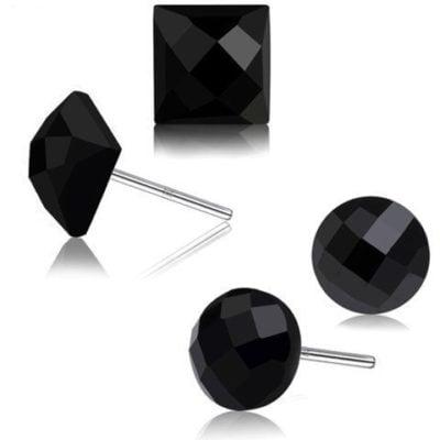 Sterling-Silver-Earrings-Black-Stud-Style-with-Alfred-Co-Jewellery-Box-B01LK1IMPM