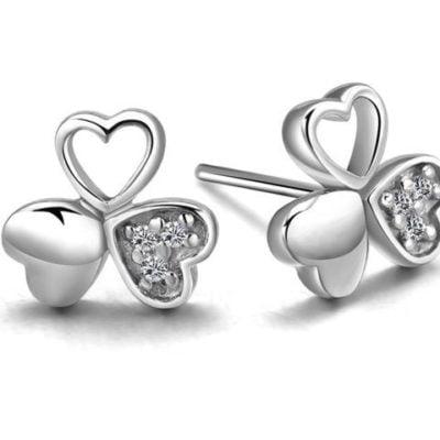 Sterling-Silver-Earrings-Heart-Style-with-Alfred-Co-Jewellery-Box-B01LK1INHO