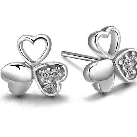 Sterling Silver Earrings Heart Style