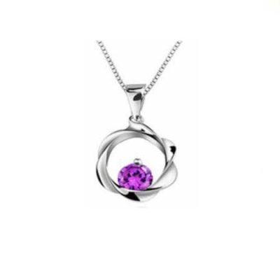 Sterling-Silver-Pendant-with-Purple-Cubic-Zirconia-Alfred-Co-Pendant-Box-B00ZJGI5QG